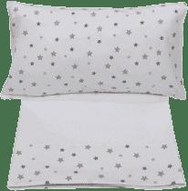 GLOOP Obliečky (polšářek, prestieradlo na prikrytie, plachta biela) Stars
