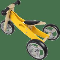 NICKO Drevené odrážadlo 2v1 mini trojkolka - žlté