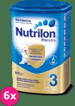 6x NUTRILON 3 ProNutra (800g) - dojčenské mlieko