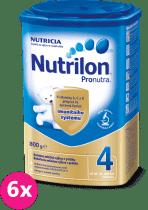 6x NUTRILON 4 ProNutra (800g) - kojenecké mléko