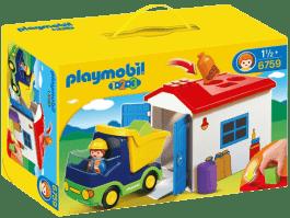 PLAYMOBIL Nákladné auto s garážou (1.2.3)