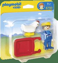 PLAYMOBIL Farmár s kolieskom (1.2.3.)