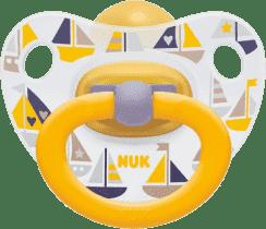NUK Cumlík Classic HAPPY KIDS, latex, veľkosť 3 (18 + m.) žltý