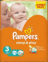 PAMPERS Sleep&Play 3 MIDI (4-9kg) 2x78 (156ks) JUMBO PACK - jednorázové pleny