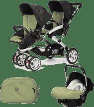 CASUALPLAY Set kočárek pro dvojčátka Stwinner, 2x autosedačka Baby 0plus a Bag 2015 - Grape