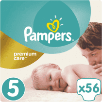 PAMPERS Premium Care 5 JUNIOR 56 ks (11-18 kg) JUMBO PACK- jednorázové pleny
