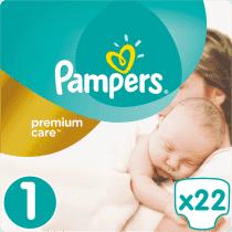 PAMPERS Premium Care 1 NEWBORN 22ks (2-5kg) CARRY pack – jednorázové pleny