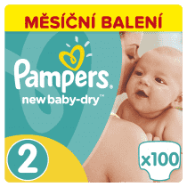 PAMPERS New Baby-dry MINI 2, 100ks (3-6kg) GIANT Box - jednorázové pleny