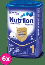 6x NUTRILON 1 ProNutra Good Sleep (800g) - dojčenské mlieko