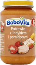 BOBOVITA Domowa potrawka z indykiem i pomidorami (190g)
