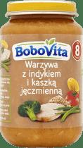 BOBOVITA Warzywa z indykiem i kaszką jęczmienną (190g)