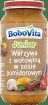 BOBOVITA Warzywa z wołowiną w sosie pomidorowym (250g)