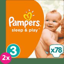 2x PAMPERS Sleep&Play 3 MIDI 78 szt (4-9kg) JUMBO PACK - pieluszki jednorazowe
