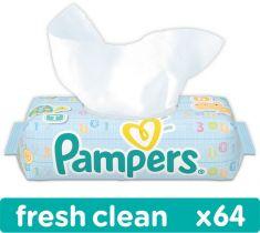 PAMPERS Fresh Clean 64 ks - vlhčené obrúsky
