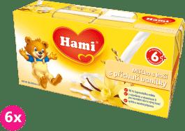 6x HAMI mliečko s kašou s príchuťou vanilky (2x250ml)
