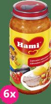 6x HAMI zahradní zelenina s hovězím (250 g) - maso-zeleninový příkrm