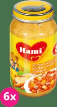 6x HAMI karotka s krůtími prsíčky (200 g) - maso-zeleninový příkrm