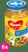 6x HAMI ryža, tuniak a cuketa 200g - mäsovo-zeleninový príkrm