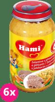6x HAMI zelenina s jahňacím a pšenom 200g - mäsovo-zeleninový príkrm