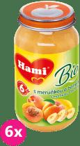 6x HAMI BIO s meruňkou a banány bez cukru (200 g) - ovocný příkrm