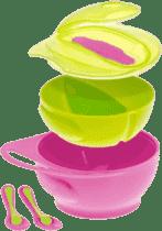BROTHER MAX Set misiek s uškom - ružový / zelený