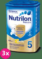 3x NUTRILON 5 ProNutra vanilka (800g) - kojenecké mléko