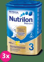 3x NUTRILON 3 ProNutra vanilka (800g) - kojenecké mléko