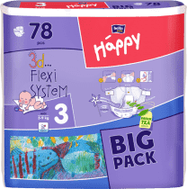 BELLA HAPPY Midi (5-9kg) Big Pack 78 ks - jednorázové pleny