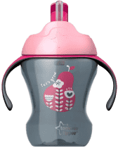 TOMMEE TIPPEE Netekoucí hrnek s brčkem Explora Easy Drink 6m+, 230ml-dívka