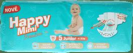 HAPPY MIMI detské plienky Premium Junior 44 ks