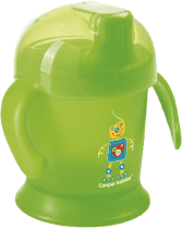 CANPOL Babies Nevylévací hrníček Smiley – modrý 200 ml