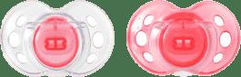 TOMMEE TIPPEE Cumlík CTN silikón Air Style 2ks 6-18m-ružové