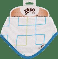 KIKKO dětský slintáček/šátek – Cyan Squares