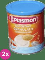 2x PLASMON Bezlepkové sušienky granulované 374g