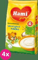 4x HAMI kaše ryžová (180 g) - nemliečna