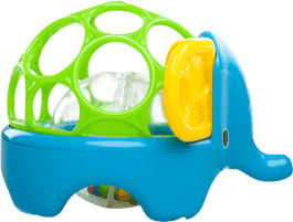 BRIGHT STARTS Hračka zvieratko Oball Rollie Rattles™, 3m+ (slon)