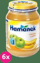 6x HAMÁNEK S jablky a banány (190 g)