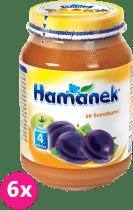 6x HAMÁNEK Se švestkami (190 g) - ovocný příkrm