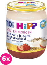 6x HIPP BIO Müsli, jahody a jogurt (160 g) - ovocný příkrm