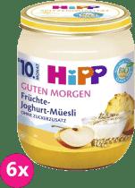 6x HIPP BIO Müsli, ovocie a jogurt (160 g) - ovocný príkrm