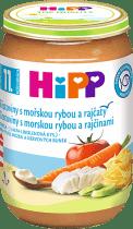 HIPP Široké rezance s rajčinami, zeleninou a morskou rybou 220g