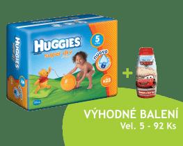 HUGGIES® Super Dry 5 (JUNIOR), 92ks - jednorázové pleny