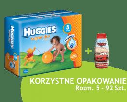 HUGGIES® Super Dry 5 (JUNIOR), 92 szt. - jednorazowe pieluszki