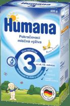 HUMANA 3 banán s vanilkovou příchutí (600 g) - kojenecké mléko