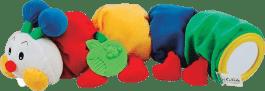 K´S KIDS Stonožka s kousátkem na prořezávání prvních zoubků, 48 cm dlouhá