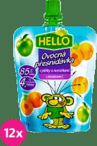 12x HELLO s jablkami a marhuľami 100g - ovocný príkrm