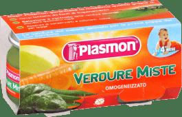 PLASMON Míchaná zelenina - zeleninový příkrm 2x80g
