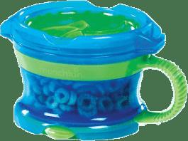 MUNCHKIN Modro-zelený svačinový hrneček Click Lock