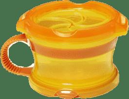 MUNCHKIN Oranžovo-žlutý svačinový hrneček Click Lock