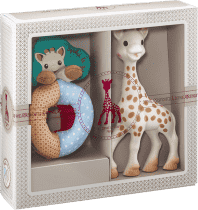 VULLI Môj prvý darčekový set žirafa Sophie a mäkké hrkálka